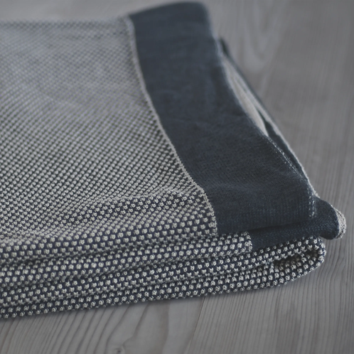 Woven Dark Grey Throw