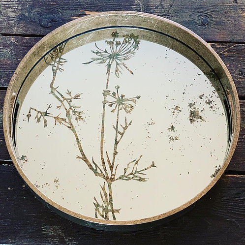 Cow Parsley Mirrored Tray
