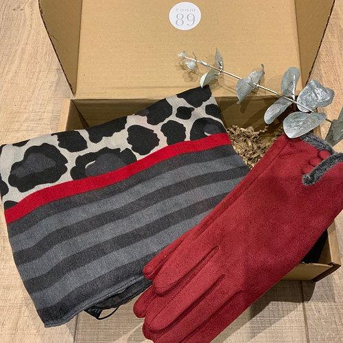 Camo Scarf and Glove Combo Gift Box