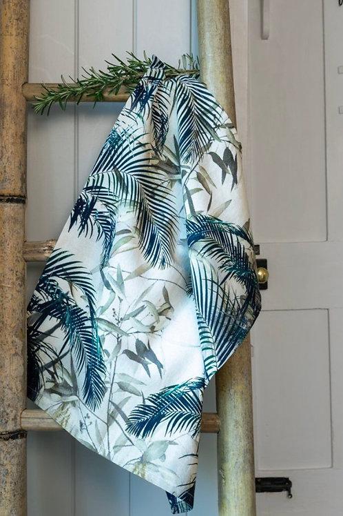 Palm Print Tea Towel