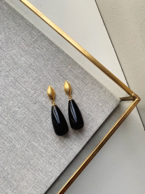 Corine Smoky Glass Drop Earrings