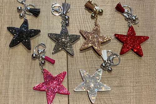 Sparkly Star Key Ring