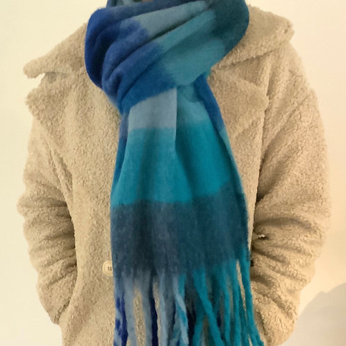 Shades of Blue Chunky Scarf