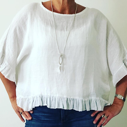 Frill Cotton Top