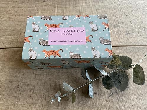 Kitty Cat Sock Gift Box