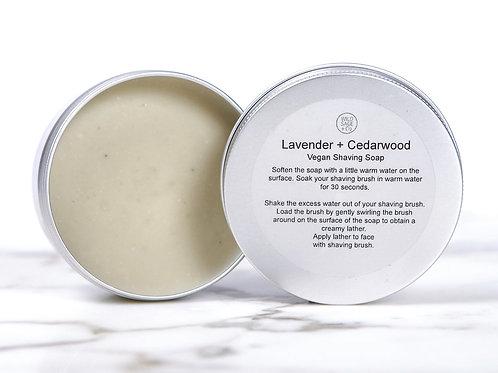 Lavender & Cedarwood Shaving Soap