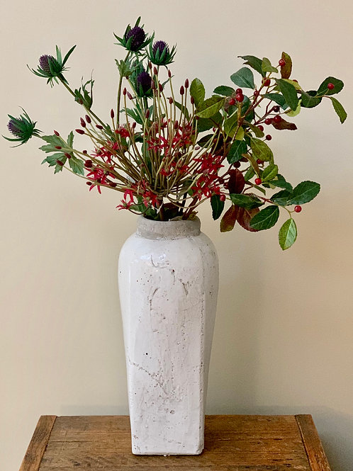 Cream Glazed Vase