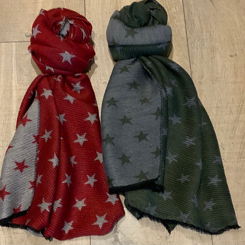 Stretchy Star Reversible Scarf