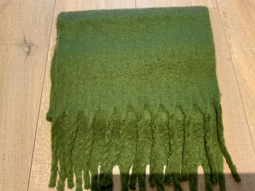 Shades of Green Chunky Scarf