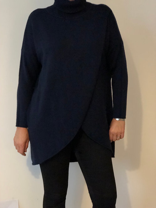High Neck Cross Over Jumper