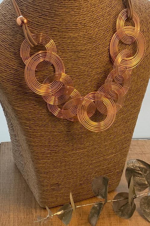 Rose Gold Big Swirl Necklace