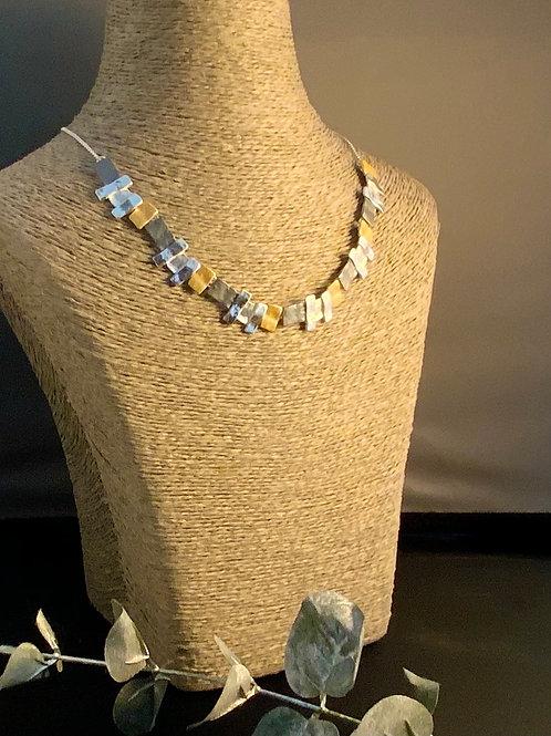 Rectangular 3 Colour Necklace