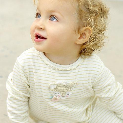 Crochet Fawn Babygro