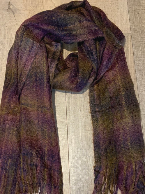 Purple Checker Scarf