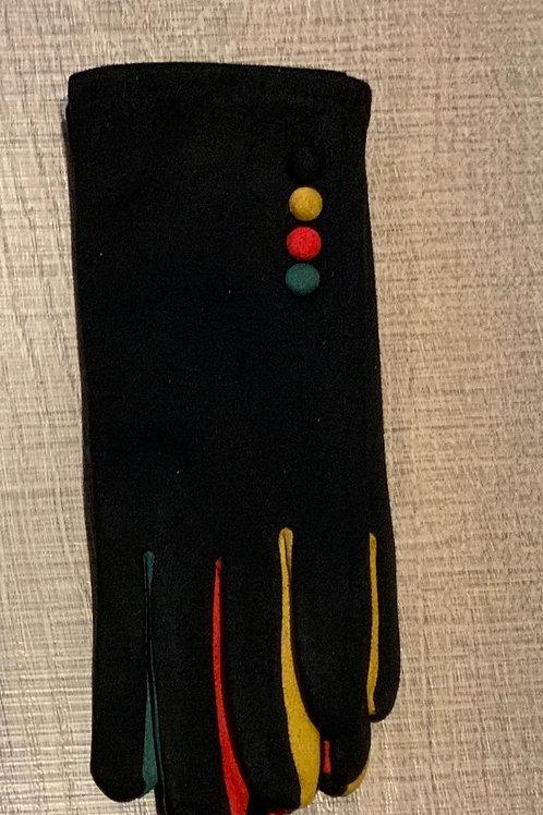 Multi Coloured Button Glove