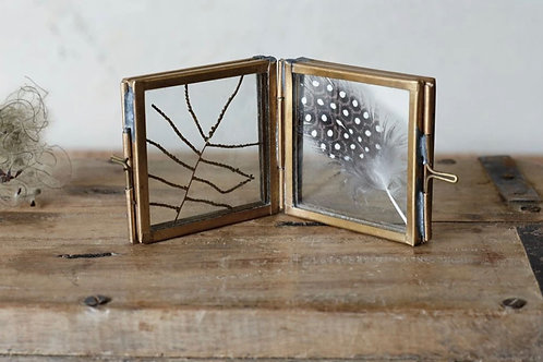 Tiny Folded Brass Frame