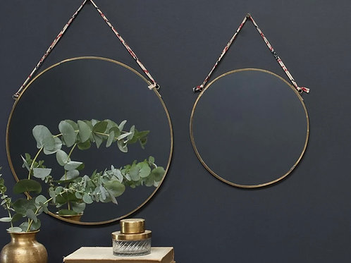 Kiko Brass Round Mirror