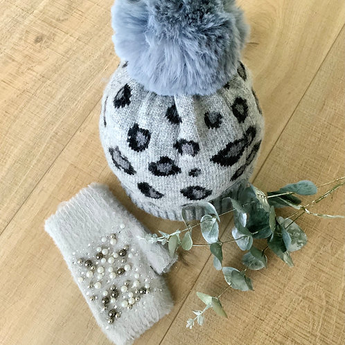 Animal Print Bobble Hat