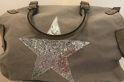 Canvas Glitter Star Bag