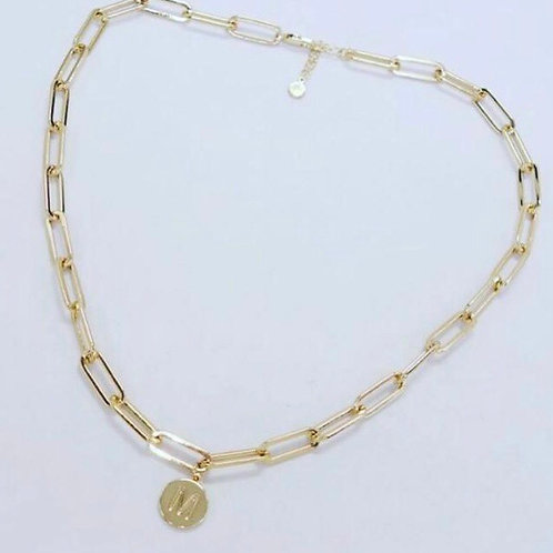 Initial Gold Look Necklace