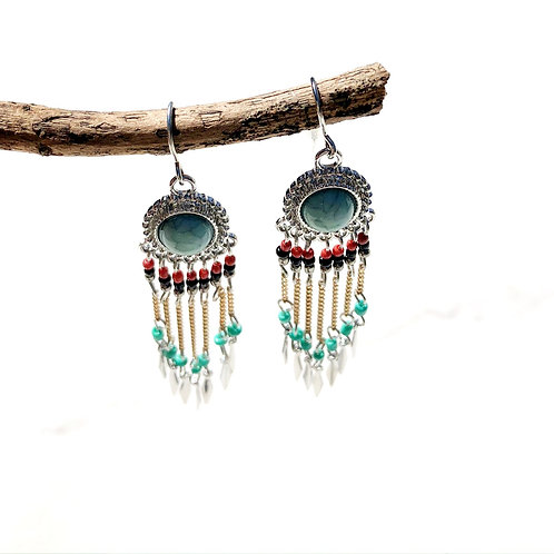 Bonnie Bead Tassel Earrings