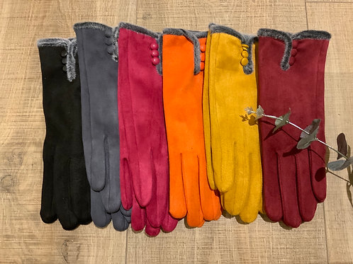 Super Soft 3 Button Gloves