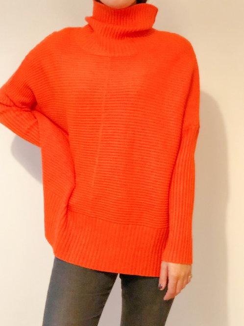 Orange Ribbed Jumper