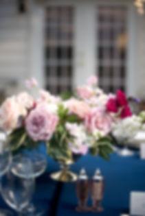 Fine art wedding blush centerpiece Virginia wedding florist Charlottesville wedding florist Richmond wedding florist DC wedding florist Northern Virginia wedding florist wedding flowers garden roses