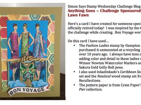 Simon Says Stamp                           Anything Goes - Wednesday Challenge