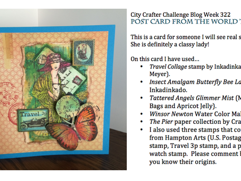 City Crafter Challenge Week 322 Post Card from the World