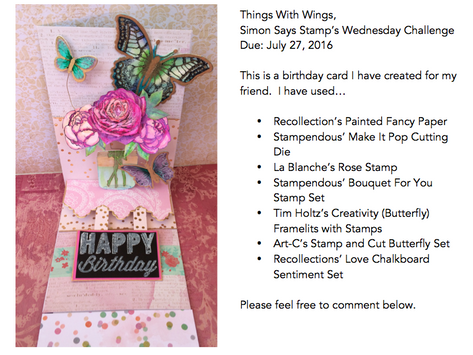 Things With Wings, Wednesday Challenge