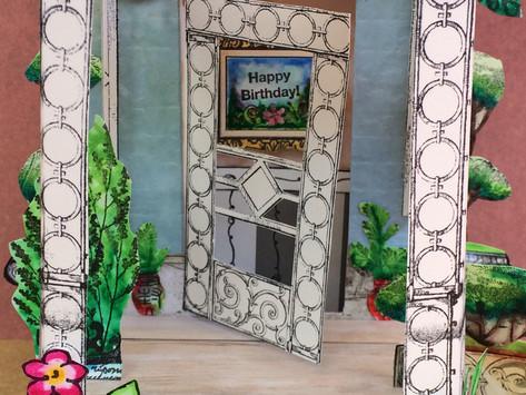 Cards That Create A Scene, Birthday Door