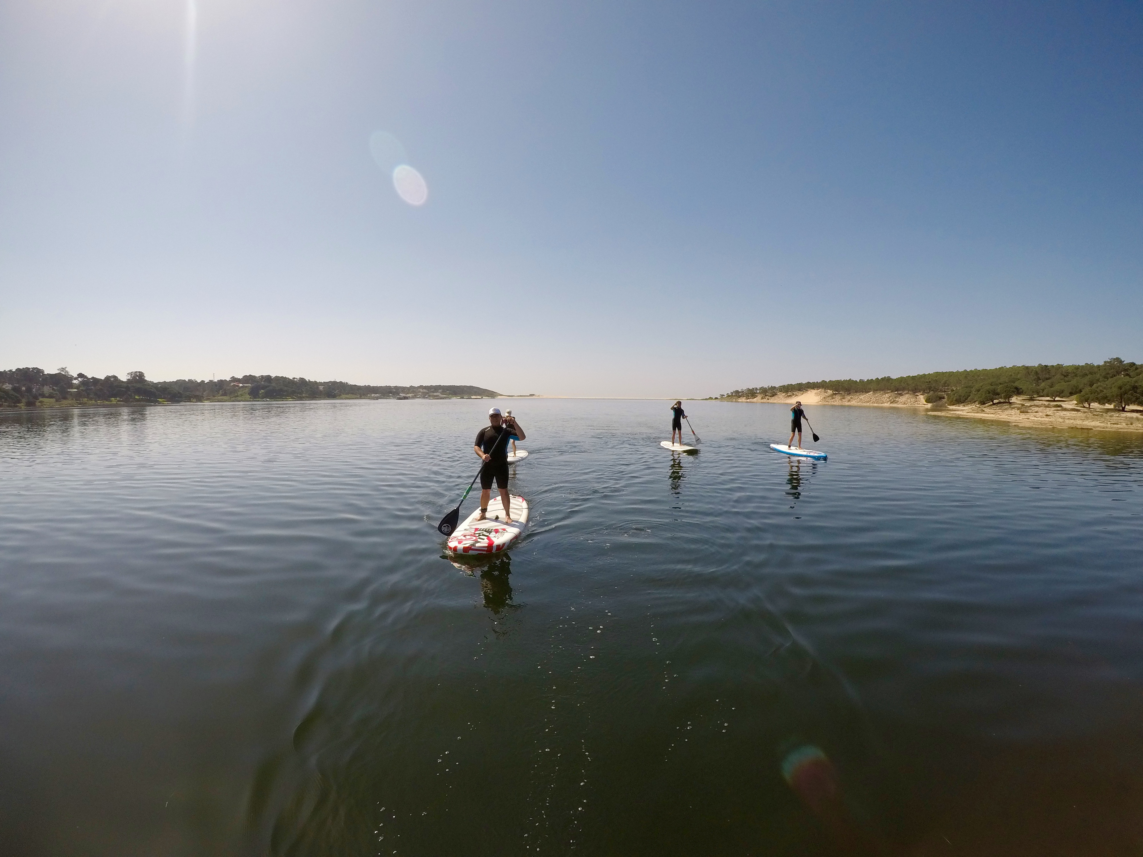 Group SUP Lesson at the Lagoon