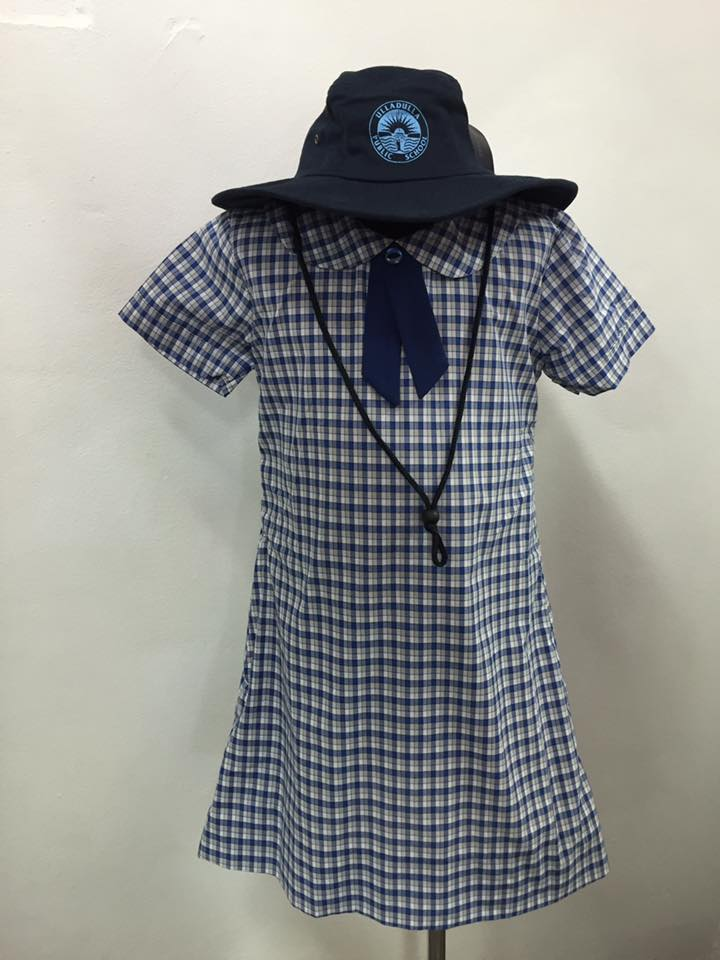 Girls cotton check tunic
