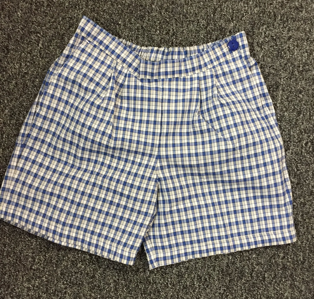 Girls cotton check shorts
