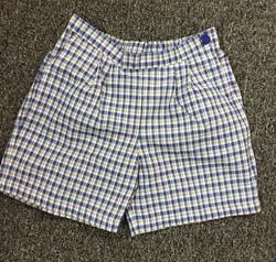 Girls cotton check shorts