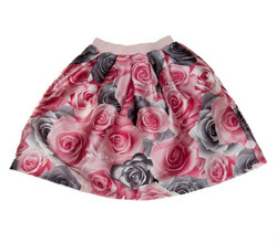 Girls rose satin skirt