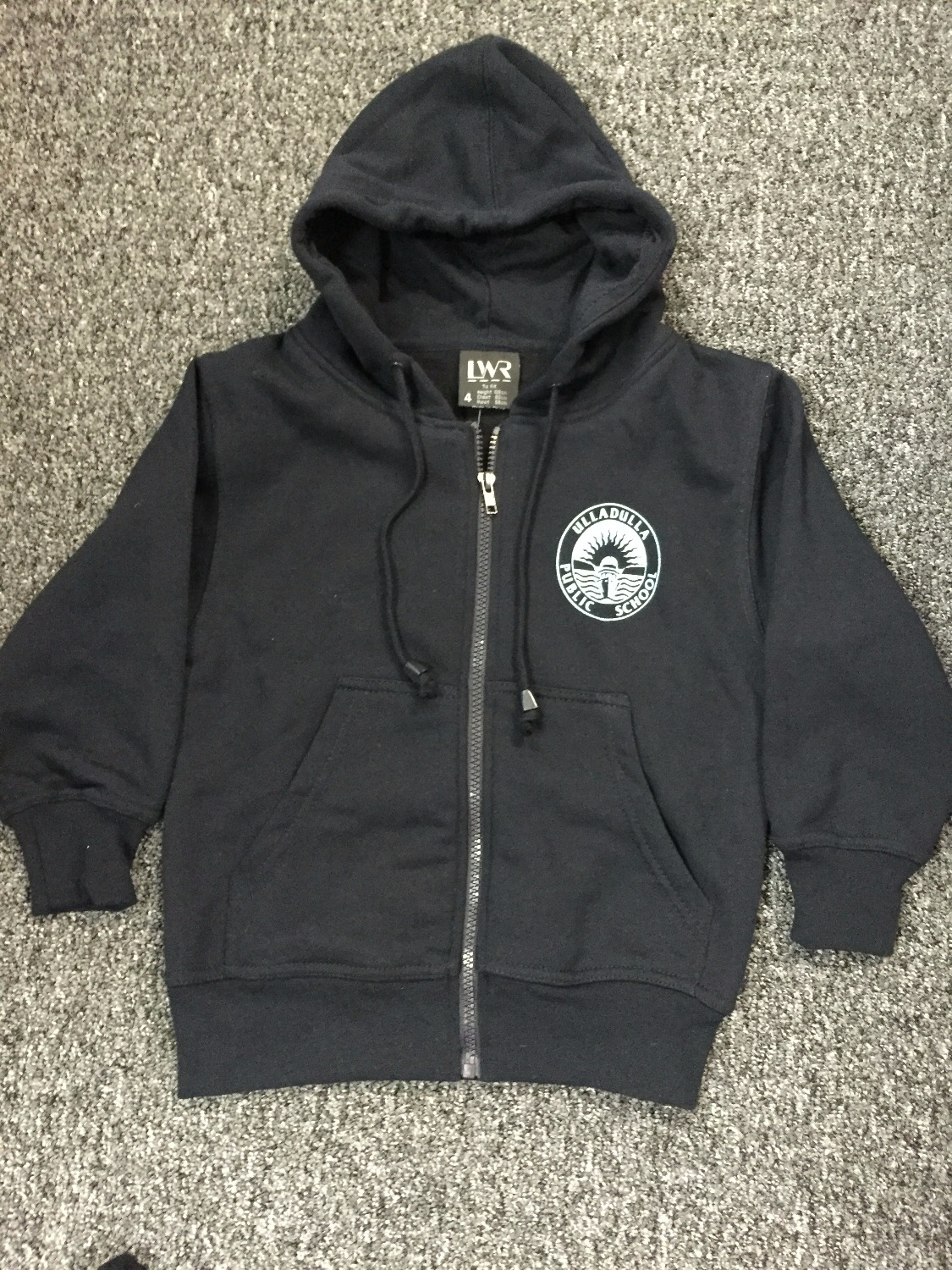 LWR logo fleecy hooded jacket