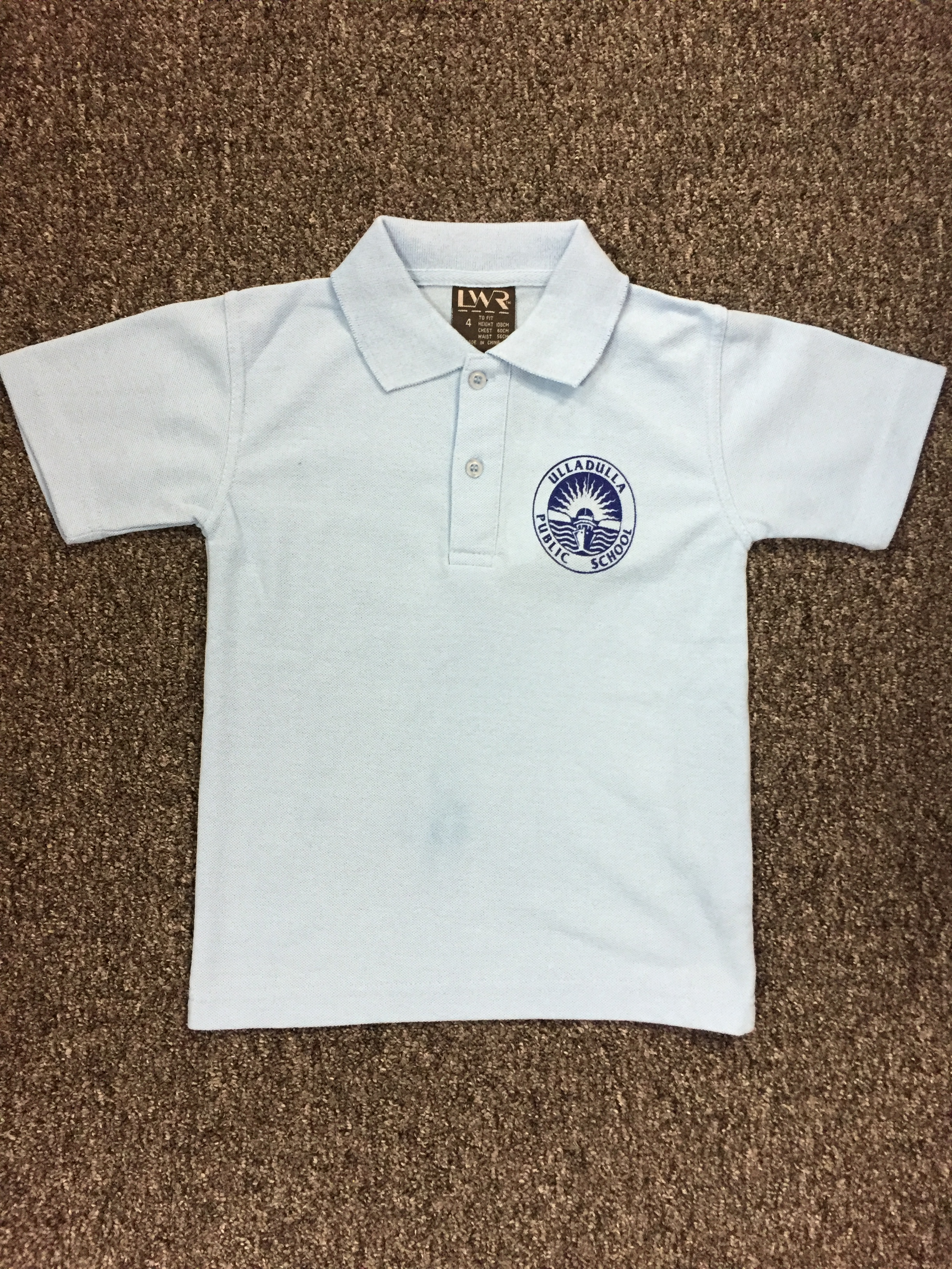 LWR unisex sky blue  polo shirt