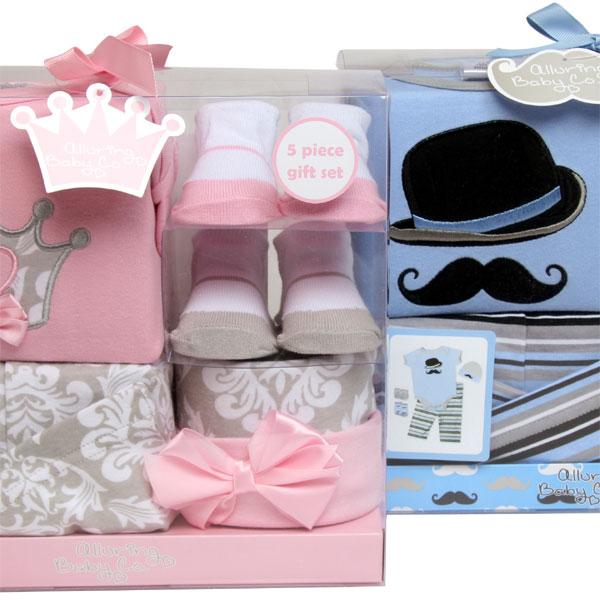 newborn boy & girls gift set