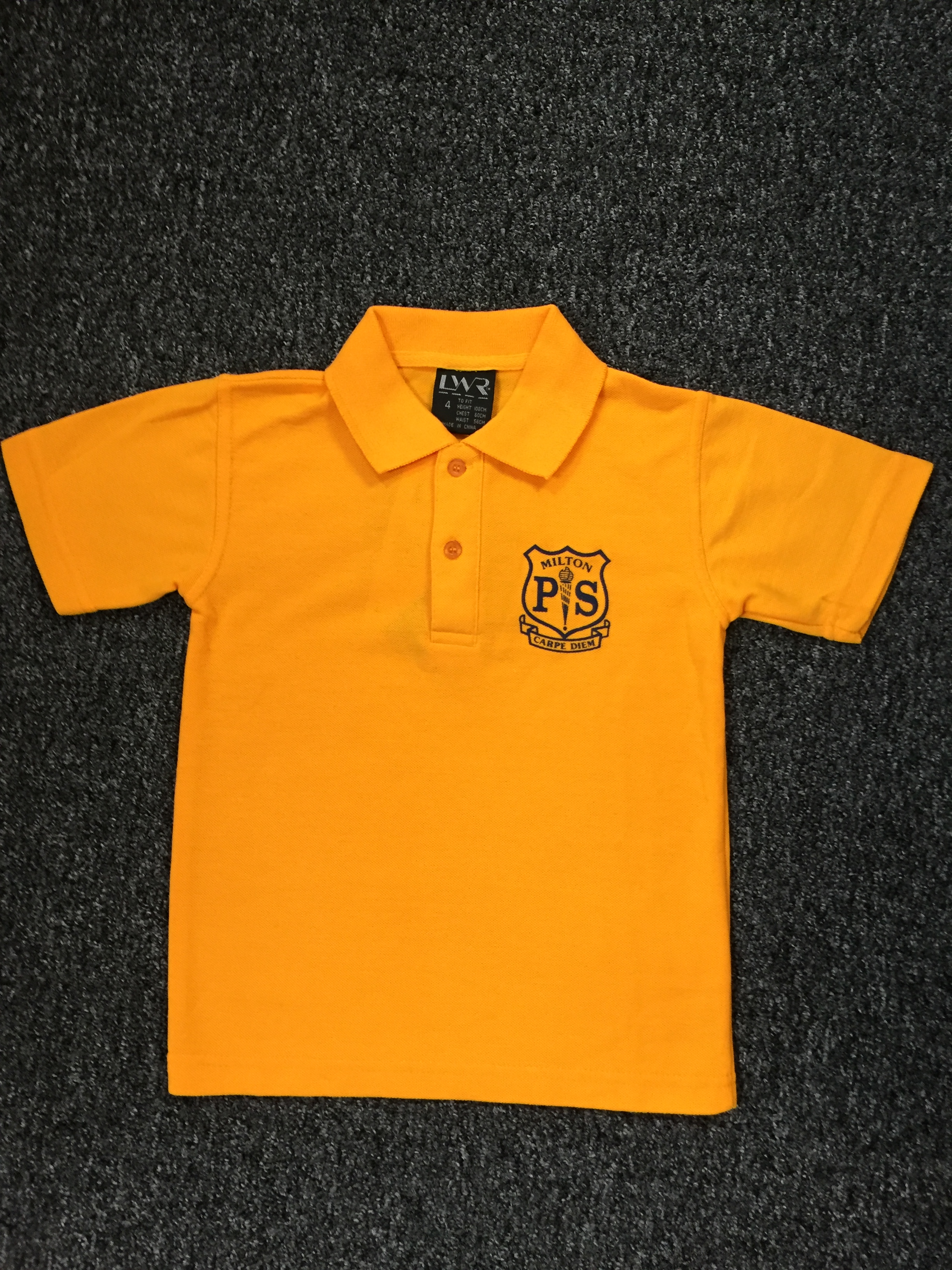 LWR gold unisex  polo shirt