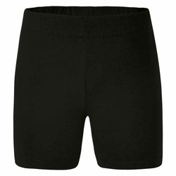 LWR girls black bike shorts
