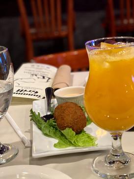 Crab Rolls and Mango Juice!