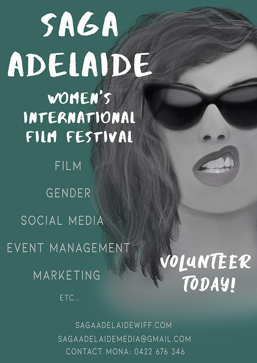 SAGA Adelaide Volunteer callout poster