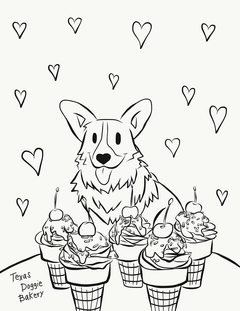 - Free Printable Corgi Coloring Pages From Texas Doggie Bakery