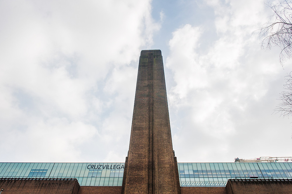 Torre de la fachada principal, Tate Gallery, Londres.