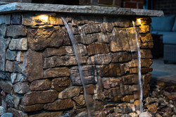 Natural Stone Wall w/Water Feature