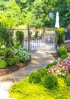 English Garden Entryway to Backyard