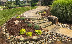 Natural Stone Steps front walkway