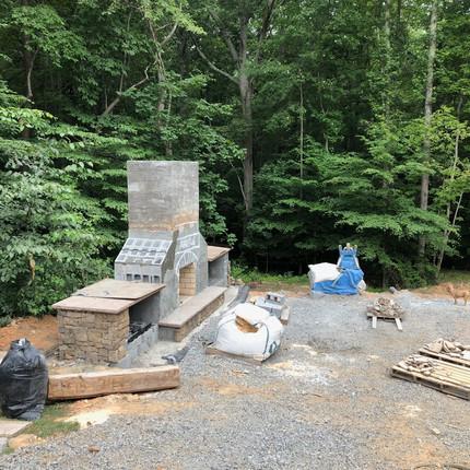 BEFORE-Transformation of Unusable Space into Backyard Retreat